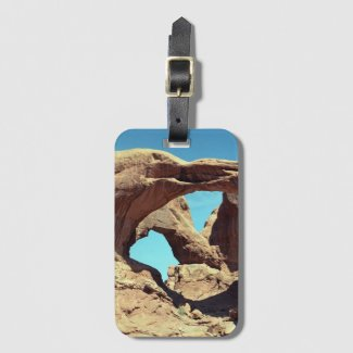 Double Arch Desert Photo Bag Tag