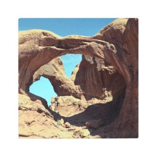 Double Arch Desert Photo Metal Photo Print