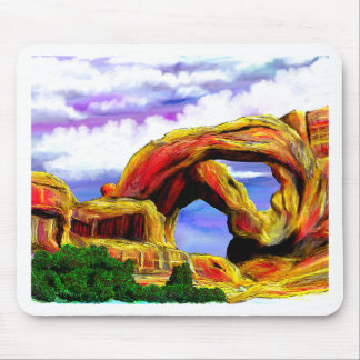Double Arch Landscape Painting Mouse Pad