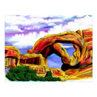 Double Arch Landscape Painting Postcard