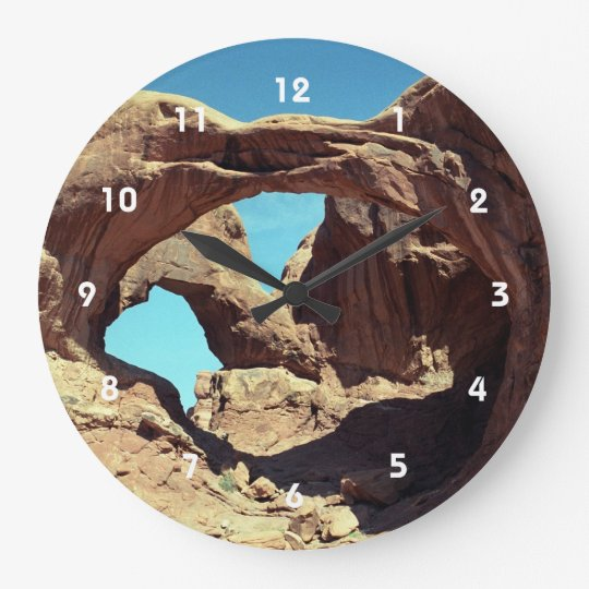 Double Arch Large Clock