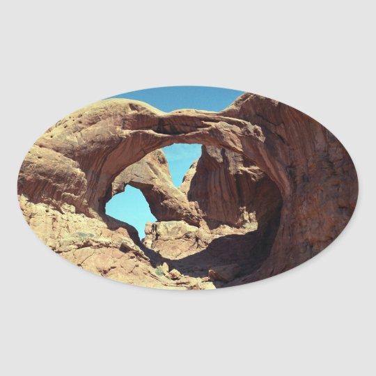 Double Arch Oval Sticker