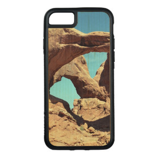 Double Arch Photo on Natural Wood Carved iPhone 7 Case