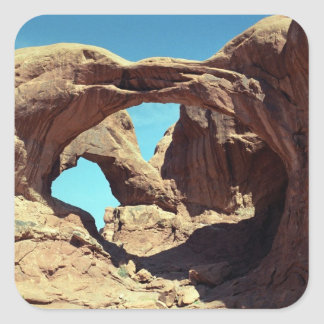 Double Arch Square Stickers