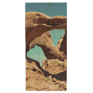 Double Arch USB Wood Flash Drive