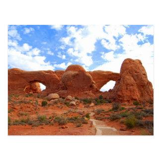 Double Arches Arches National Park Utah Postcard