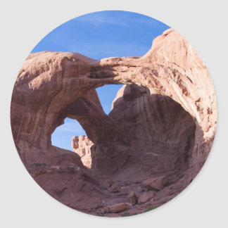 Double Arches Classic Round Sticker