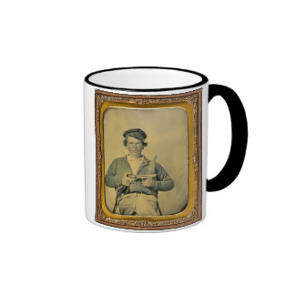 Double Armed Confederate Soldier Ringer Mug