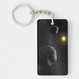 Double Asteroid Antiope Space Art Acrylic Key Chains