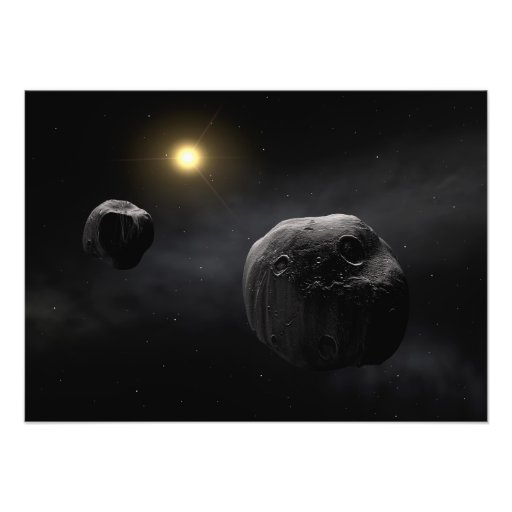Double Asteroid Antiope Space Art Photographic Print