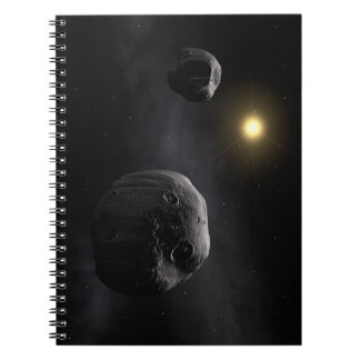 Double Asteroid Antiope Space Art Spiral Notebook