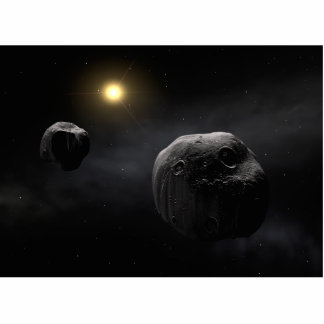 Double Asteroid Antiope Space Art Statuette