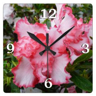 Double Azaleas Wall Clock