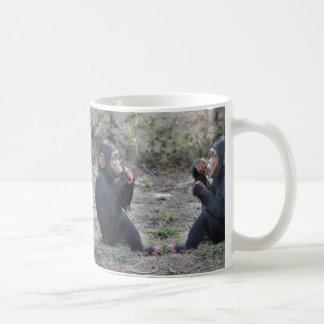 Double Baby Chimpanzees Drinking Cup