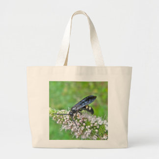 Double Banded Scoliid Wasp on Mint Tote Bag