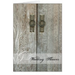 Double Barn Door Country Wedding Shower Invitation Cards