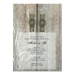 "Double Barn Doors Country Baby Shower Invitation 5"" X 7"" Invitation Card"