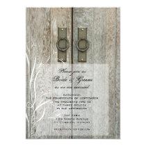 Double Barn Doors Country Farm Wedding Invitation