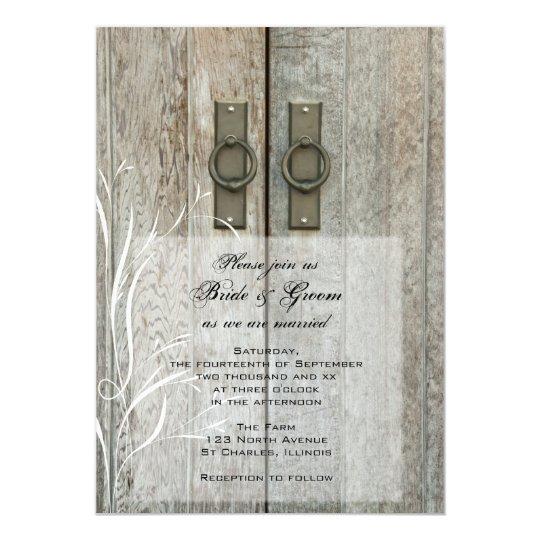 Double Barn Doors Country Farm Wedding Invitation Zazzlecom