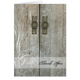Double Barn Doors Country Thank You Note Card