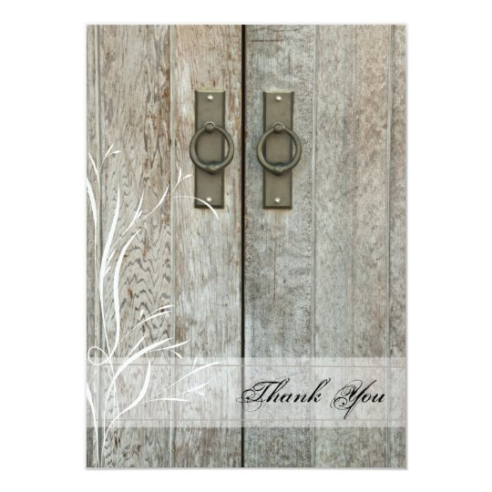 Double Barn Doors Country Thank You Notes Card