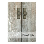 Double Barn Doors Country Thank You Notes 4.5x6.25 Paper Invitation Card