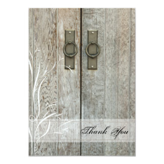 "Double Barn Doors Country Thank You Notes 4.5"" X 6.25"" Invitation Card"