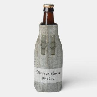 Double Barn Doors Country Wedding Favors Bottle Cooler