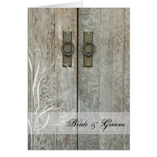 Double Barn Doors Country Wedding Invitation Greeting Card