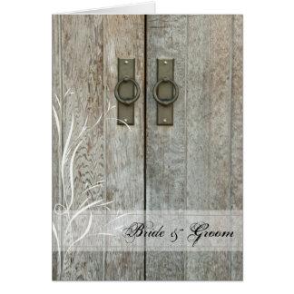 Double Barn Doors Country Wedding Invitation Greeting Card
