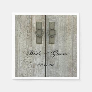 Double Barn Doors Country Wedding Paper Napkin