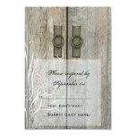 "Double Barn Doors Country Wedding Response Card 3.5"" X 5"" Invitation Card"