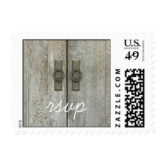 Double Barn Doors Country Wedding RSVP Postage