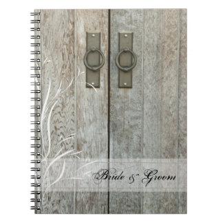 Double Barn Doors Country Wedding Spiral Notebook