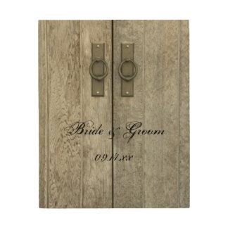 Double Barn Doors Country Wedding Wood Canvas