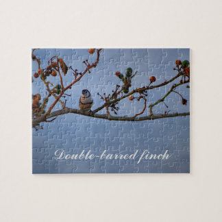 Double-barred finch on branch puzzle