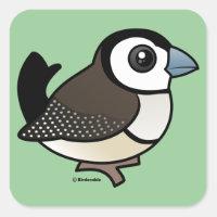 Double-barred Finch Square Sticker