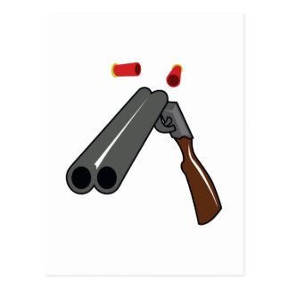 DOUBLE BARRELLED SHOTGUN POSTCARD