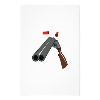 DOUBLE BARRELLED SHOTGUN STATIONERY PAPER