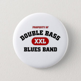 Double Bass Blues Band Pinback Button