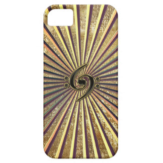 Double Bass Clef Gold Metallic Rays iPhone 6 Case