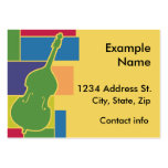 Double Bass Colorblocks Profile Card Business Cards