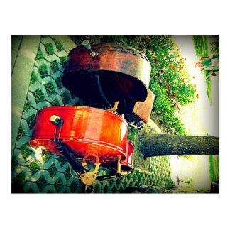 Double Bass Couple Postcard