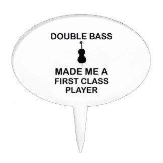 double bass design cake topper
