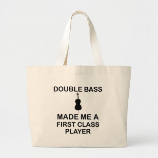 double bass design large tote bag