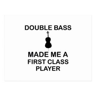 double bass design postcard