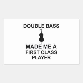 double bass design rectangular sticker