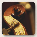 Double bass headstock 2 drink coaster