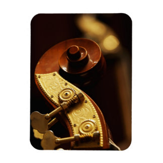 Double bass headstock 2 rectangular photo magnet