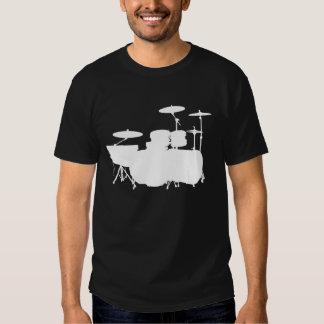 Double Bass II - White on Dark Shirt